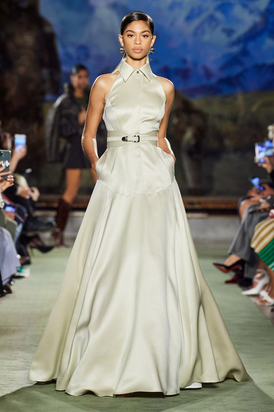 Платье в пол Brandon Maxwell