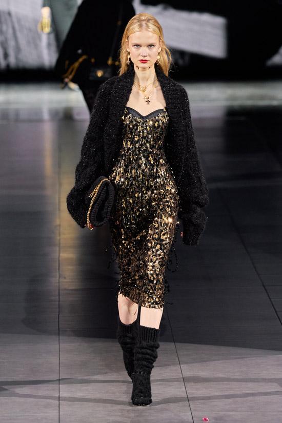 Золотисто черное платье Dolce & Gabbana