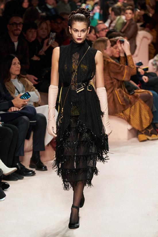 Платье с оборками от Fendi