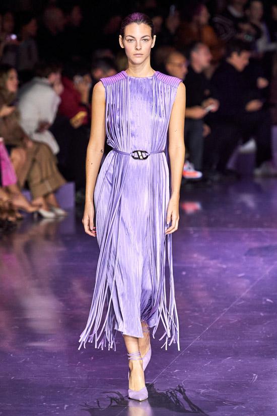 Фиолетовое платье HUGO BOSS