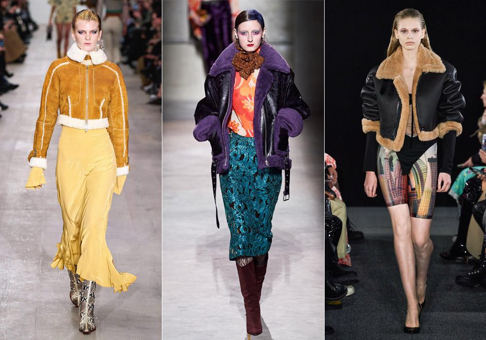 Короткие модные дубленки зимы 2021 с меховой отделкой