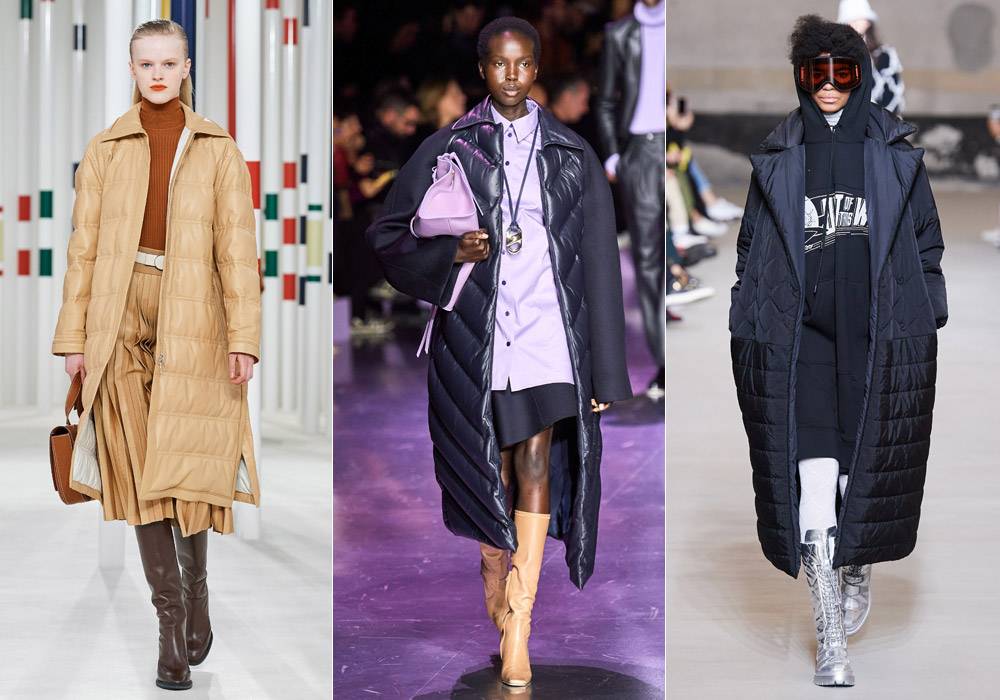 Стеганый ниже колен - модные пуховики зима 2021