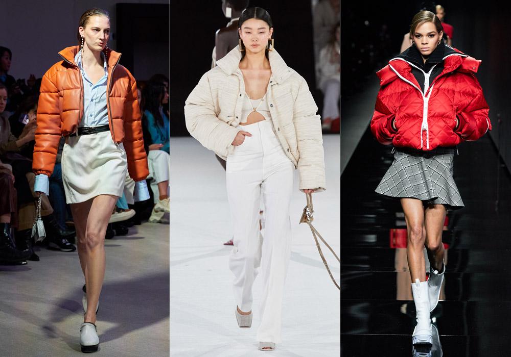 Короткие с воротником - модные пуховики зима 2021