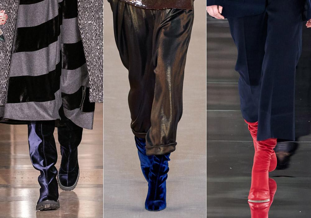 Сапоги из цветной замши - самые модные зимние сапоги 2021