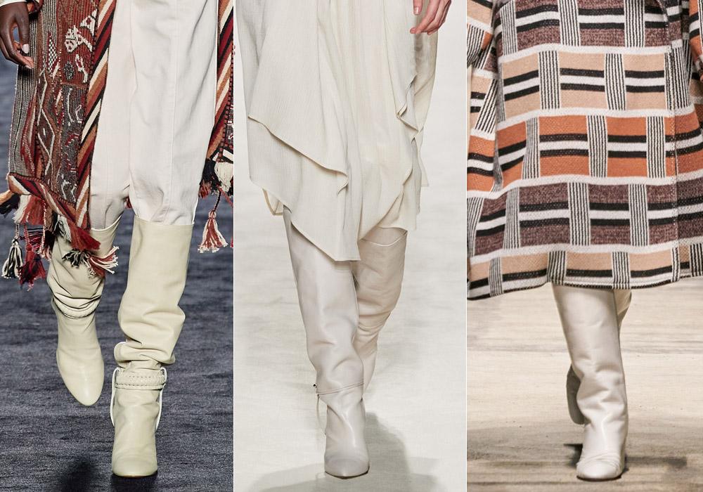 Сапоги молочного цвета - самые модные зимние сапоги 2021