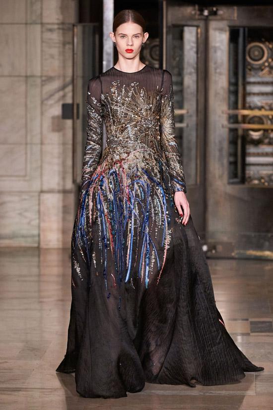 Праздничное платье в пол от Oscar de la Renta