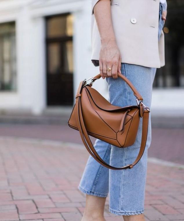 Коричневая мягкая сумочка