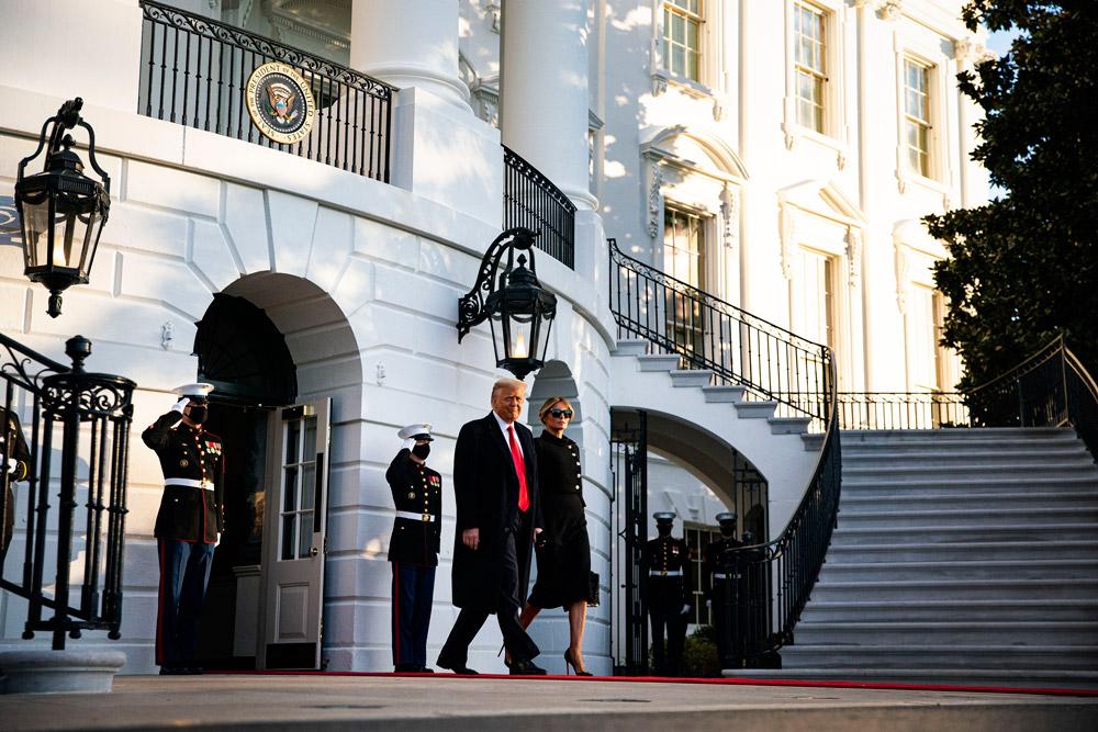 Мелания Трамп покидает Белый дом