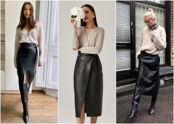 Элегантная юбка-миди поможет создать самый правильный аутфит для офиса