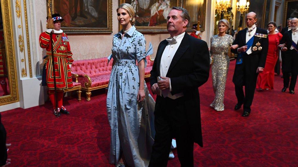 Иванка Трамп в голубом платье