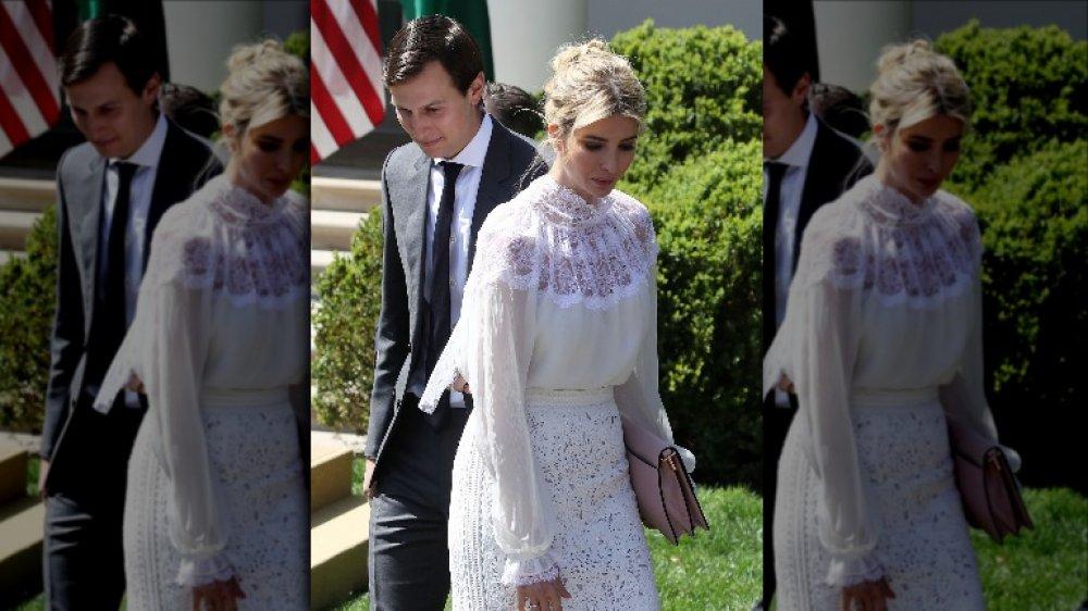 Иванка Трамп в кружевной юбке