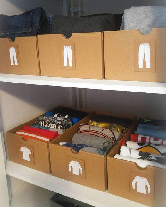 Наведите порядок в шкафу с помощью коробок