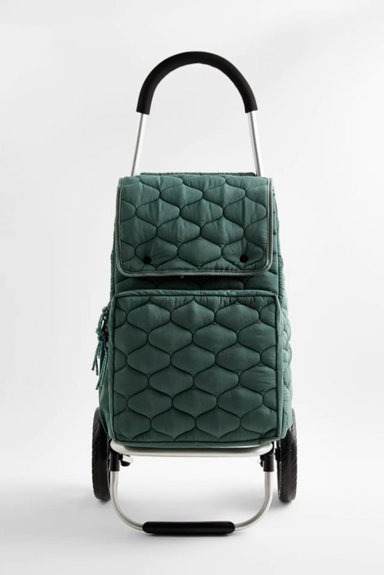 Сумка тележка на колесиках от Zara