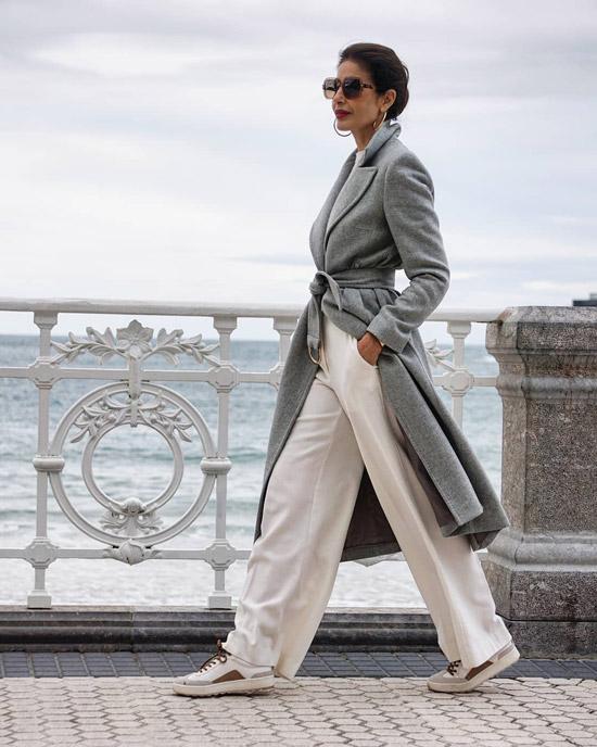 Широкие брюки выглядят очень стильно