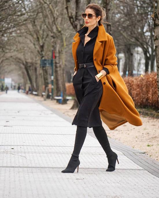 Акцент на пальто