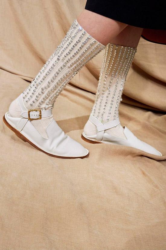 Белые балетки с открытой пяткой из мягкой кожи от Tod's