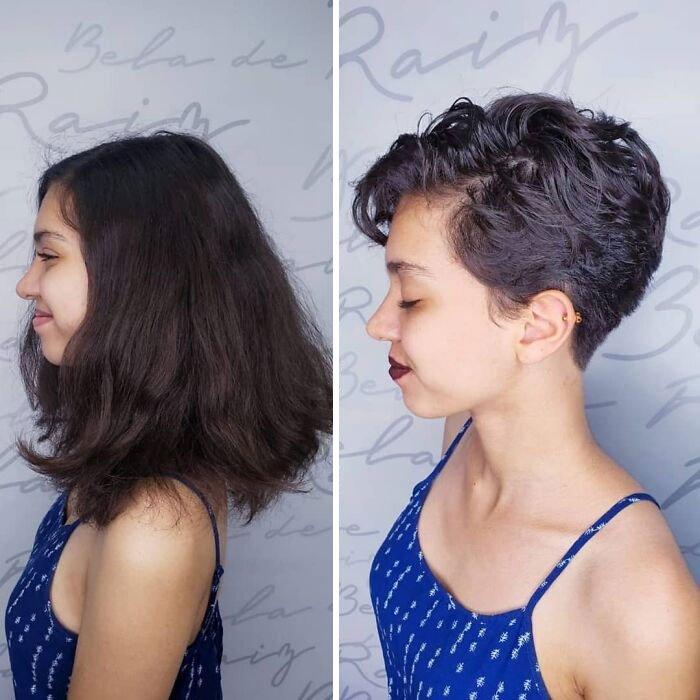 Девушка с короткой стрижкой