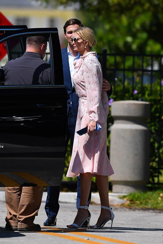 Иванка Трамп в розовом платье