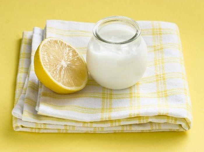 Маска для волос с йогуртом и лимоном