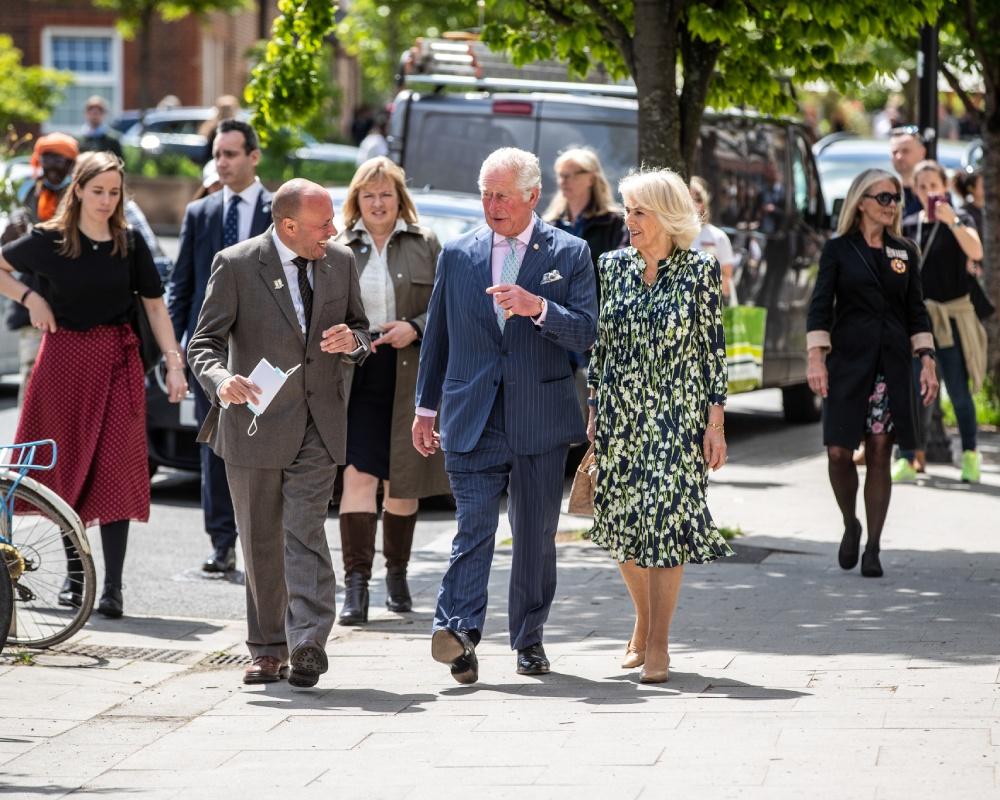 Герцогиня Камилла с мужем в центре Лондона