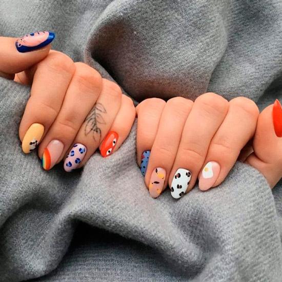 Сочетайте различный дизайн на своих ногтях