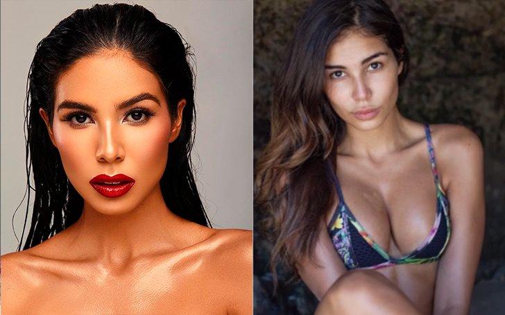 Ивонн Сердас - Коста-Рика, с макияжем и без
