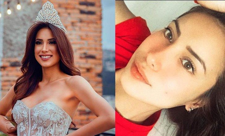Лейла Эспиноза - Эквадор, с макияжем и без
