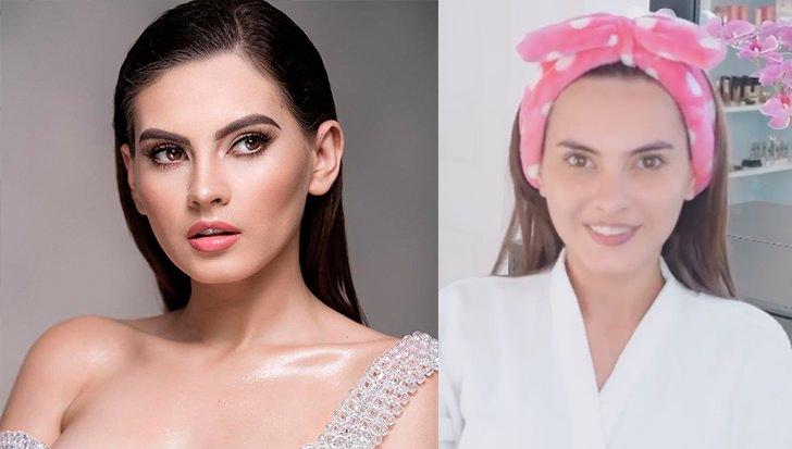 Ана Марсело - Никарагуа, с макияжем и без