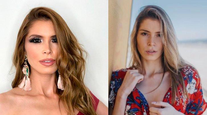 Лола де лос Сантос - Уругвай, с макияжем и без