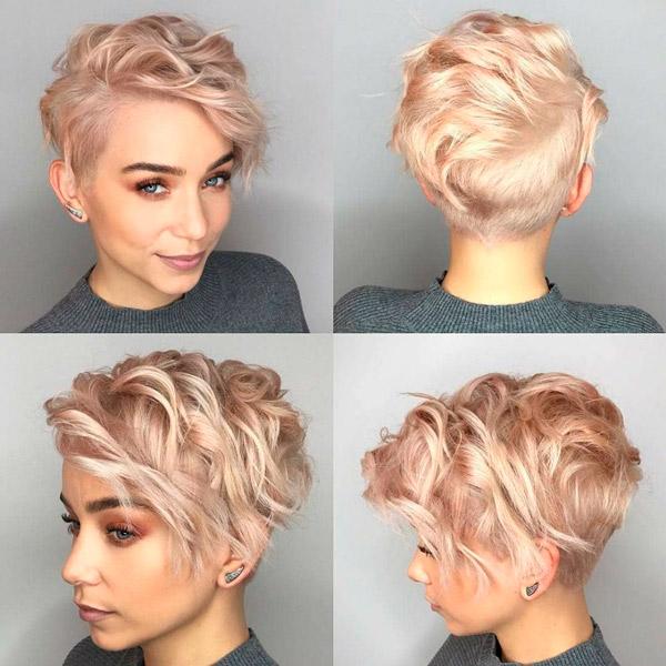 Пикси для волнистых волос