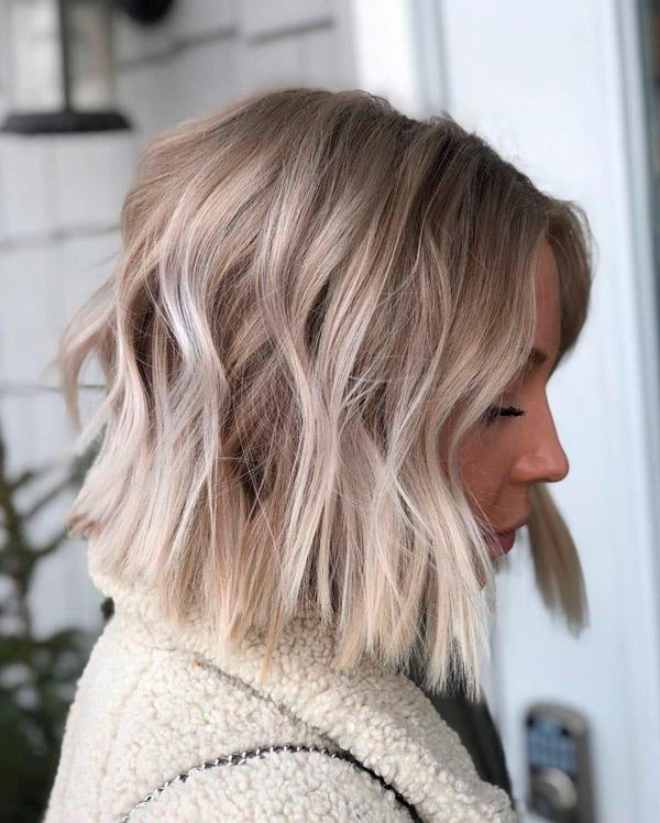 Пепельно русый короткий блонд