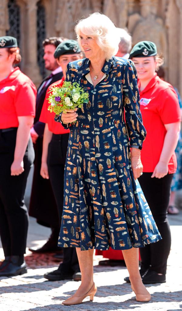 Английская герцогиня в платье с перьями