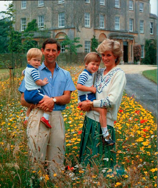 Принц Гарри и принц Уильям в одинаковых голубых костюмах с шортами