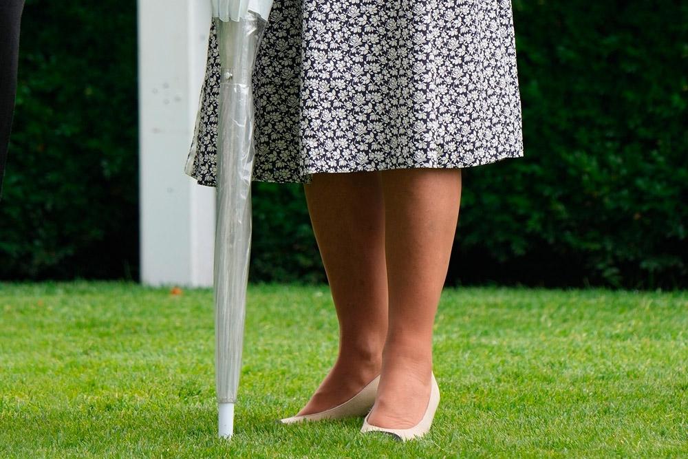Герцогиня Камилла в туфлях от диор и платье