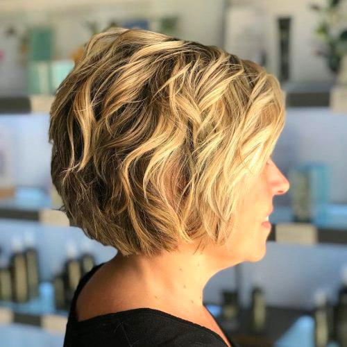 Короткая стрижка для блондинок