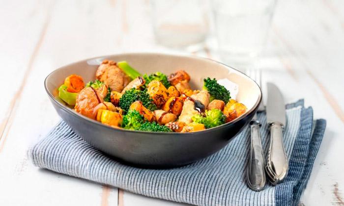 Правильный обед из курицы и овощей всего за несколько минут