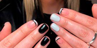 Маникюр, который можно носить круглый год: 14 интересных черно-белых дизайнов ногтей
