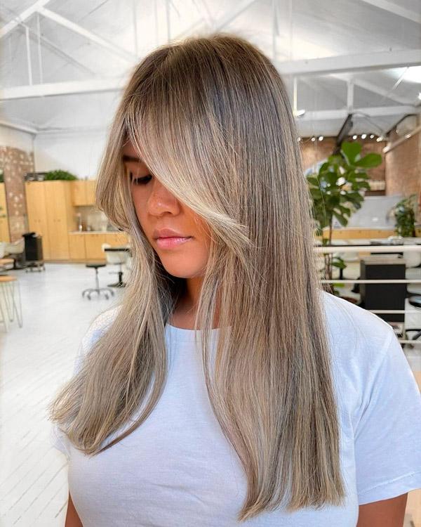 Стрижка с прямыми тонкими волосами