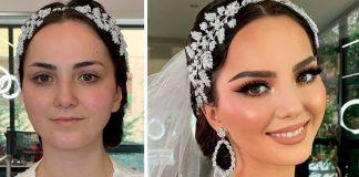 Это поразительно, как невесты могут выглядеть после профессионального макияжа, вот 15 примеров