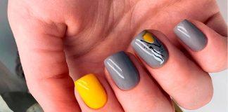14 шикарных серых дизайнов ногтей, для любительниц простого и сдержанного маникюра