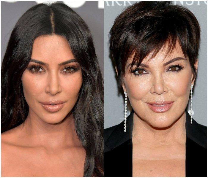 Ким Кардашьян иКрис Дженнер очень сильно похожи