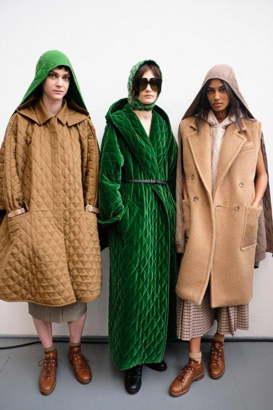 Модели в модным пальто для осени 2021
