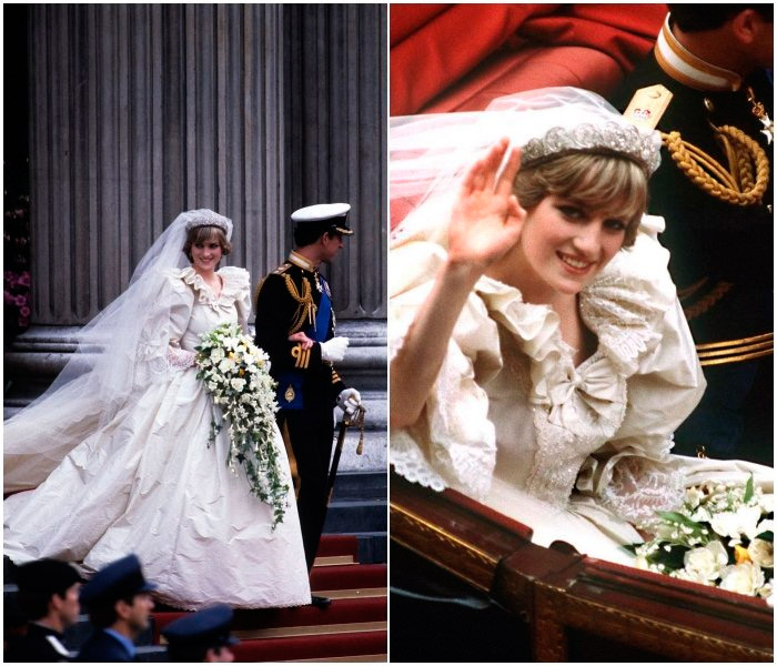 Принцесса Диана на свадебной церемонии