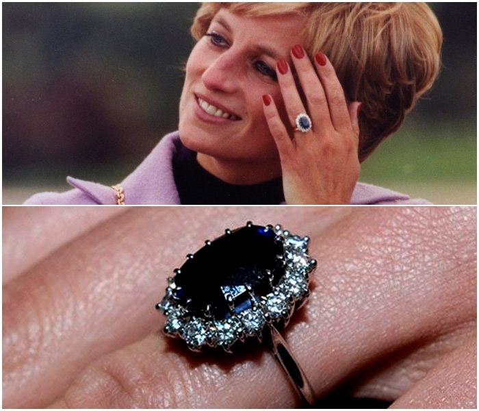 Принцесса Диана с кольцом из каталога