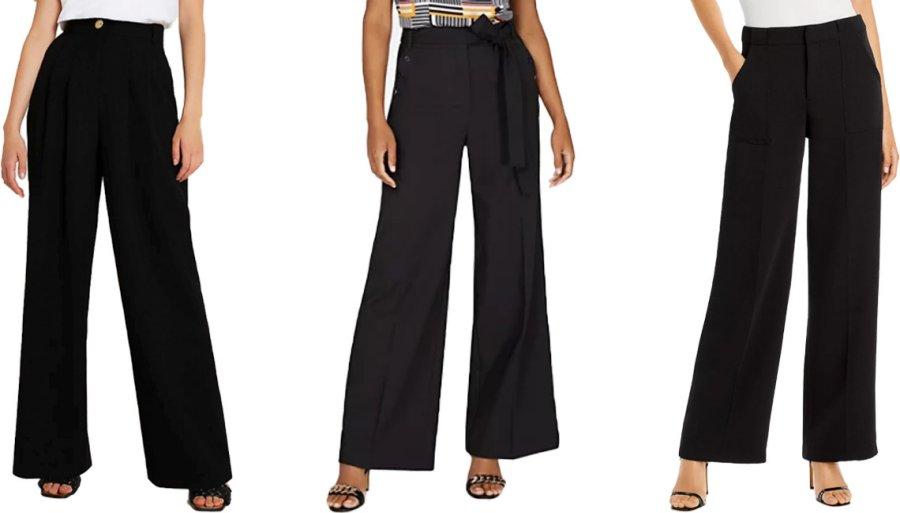 Широкие длинные брюки для женщин за 50