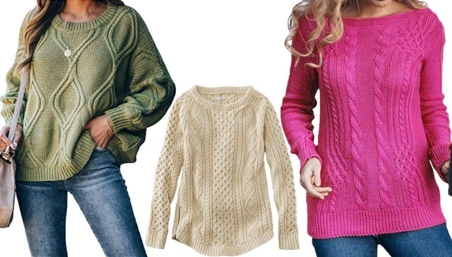 Вязаные свитера на осень 2021