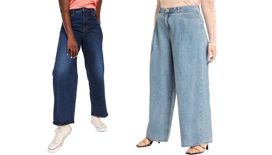 Осенние джинсы свободного кроя
