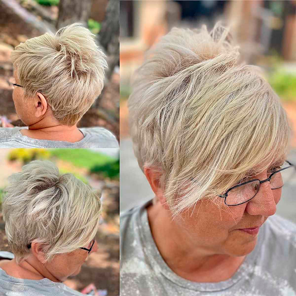 Короткая стрижка для пожилых, молодых душою дам