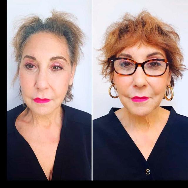 Лохматая короткая стрижка для женщин в очках