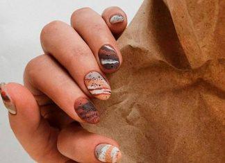 14 стильных коричневых маникюров на осень и зиму, которые выглядят сдержанно, но не скучно
